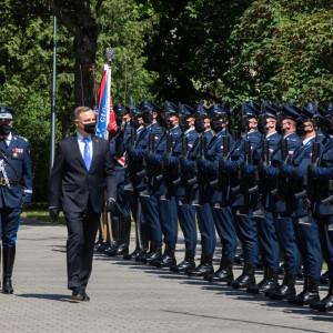 Prezydent: cieszę się  z realizacji zadań zmierzających do poprawy warunków pracy i uposażenia policjantów