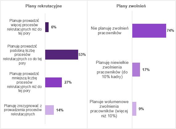 Plany pracodawców (Źródło: Raport Antal)