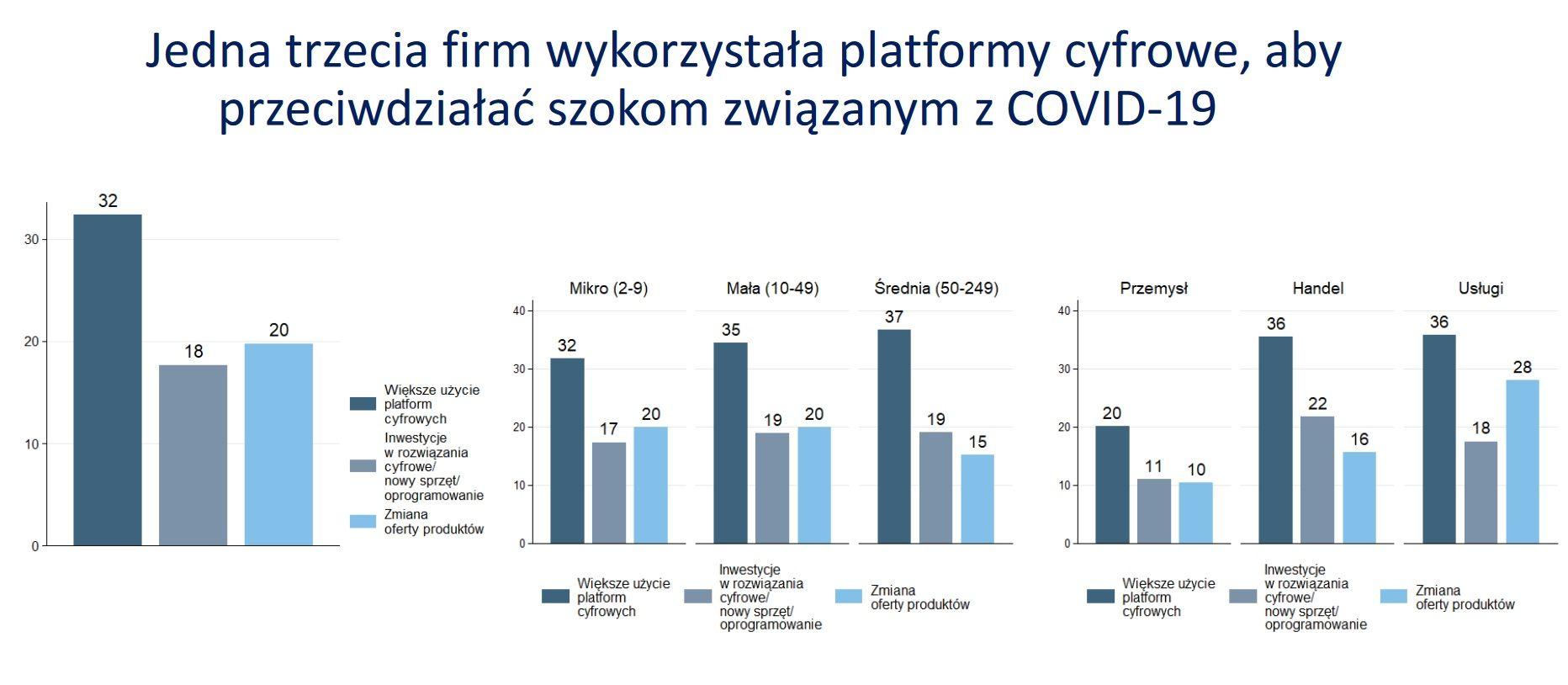 Firmy korzystają z platform cyfrowych (Źródło: COVID-19 Business Pulse Survey - Polska)