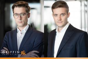 Jędrzej Socha i Jan Niepiekło w Griffin Real Estate