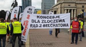 Związkowcy pikietują w obronie węgla i pracowników