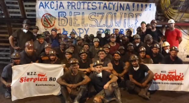Podziemny protest już w trzynastu kopalniach