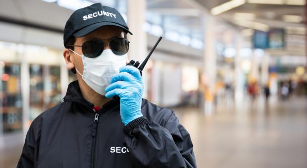 Pandemia zmieniła system pracy ochroniarzy. Nie mienie, a zdrowie głównym celem