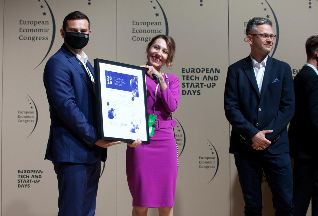 ICsec został laureatem Start-up Challenge 2020 w kategorii Business Processes. Organizatorem konkursu jest Grupa PTWP. (fot. ICsec)