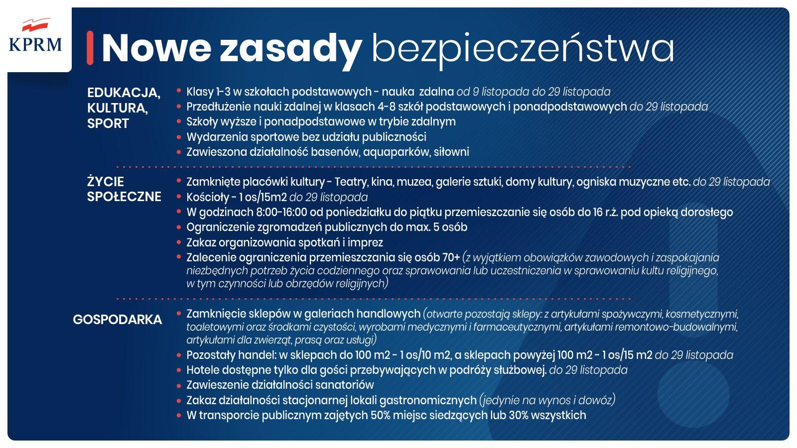 Nowe zasady bezpieczeństwa (Fot. KPRM)