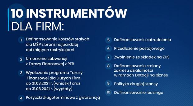 Premier przedstawił 10 instrumentów dla firm
