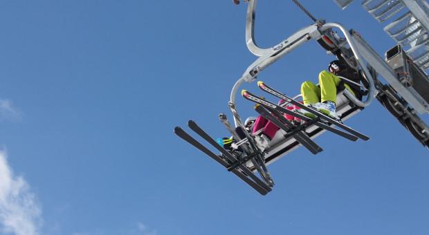 Praca zdalna na wyciągu narciarskim