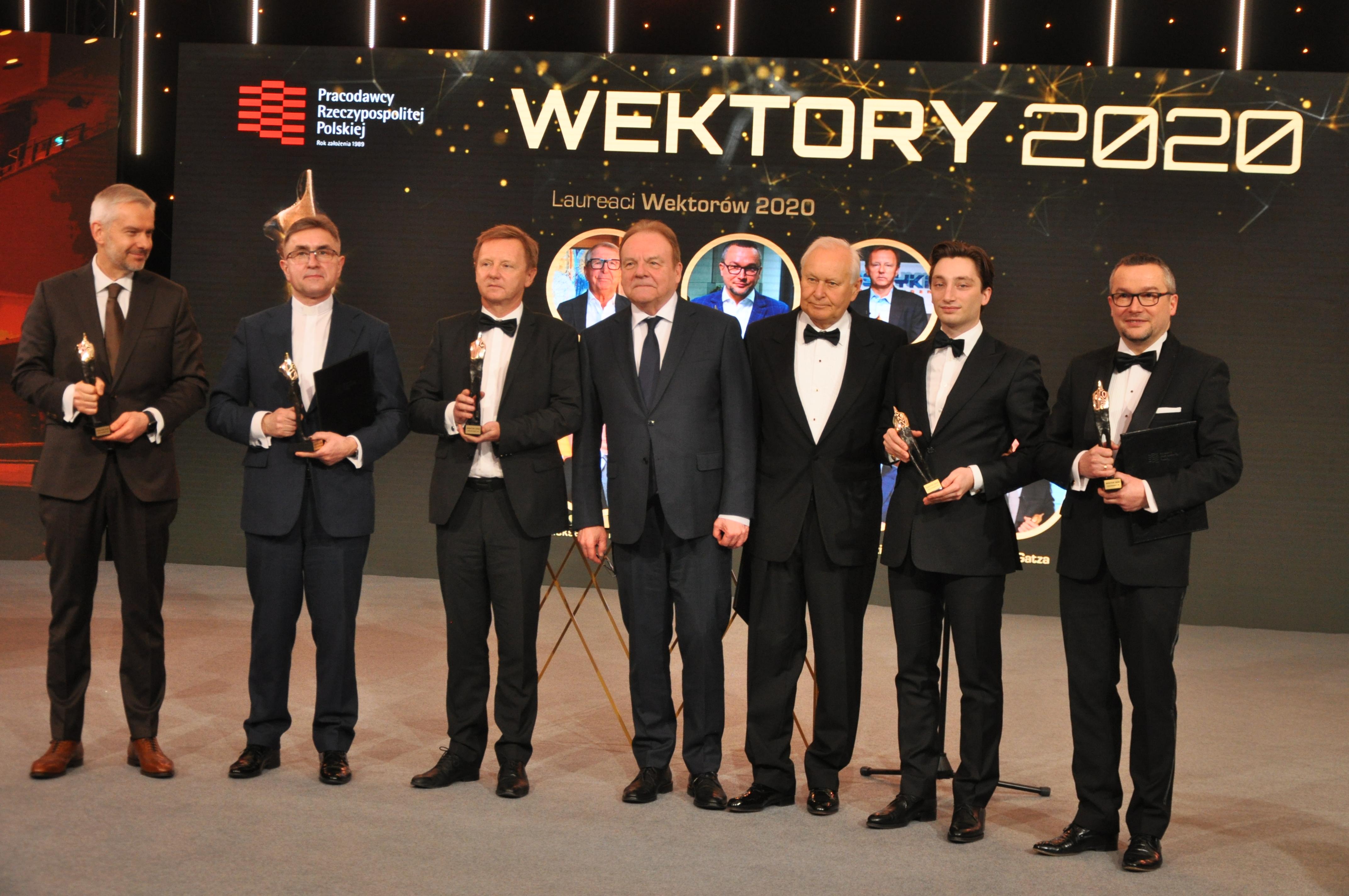 W tegorocznej edycji wyróżnień, nagrody odebrało siedmiu laureatów (fot. Pracodawcy RP)