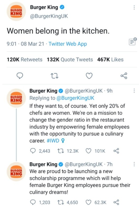źródło: Twitter Burger King UK