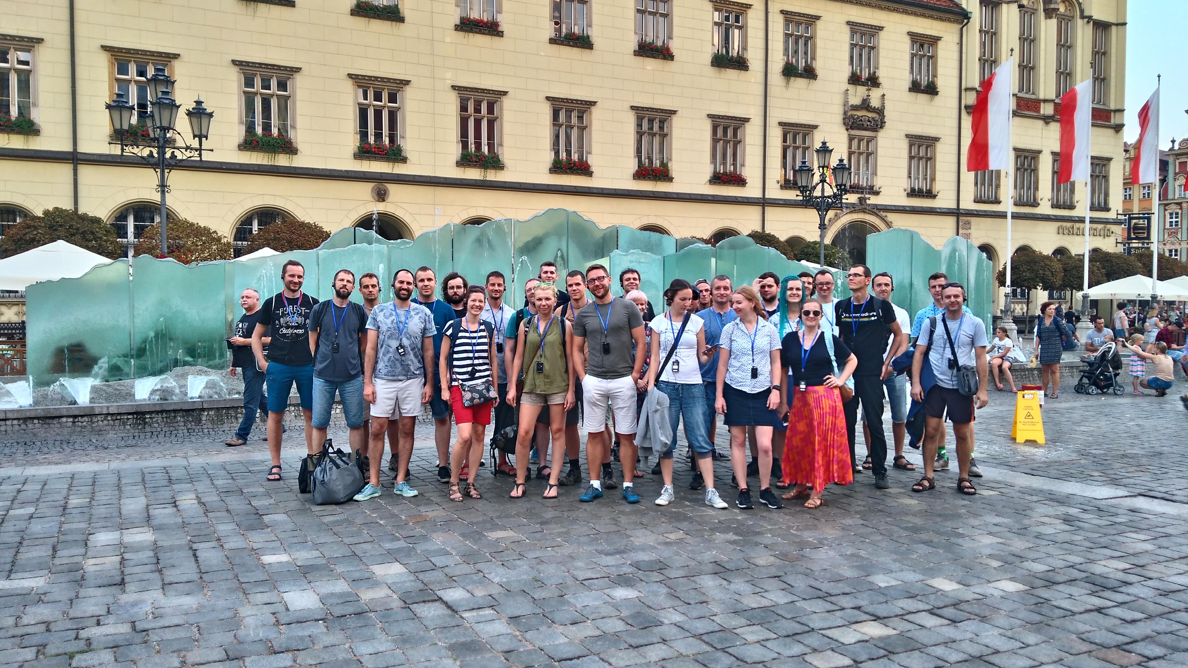 Zespół SoftwareMill na wyjeździe integracyjnym we Wrocławiu (fot. SoftwareMill)