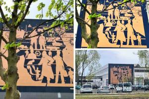 """KGHM dziękuje pracownikom miedzianym muralem. """"Jedyny na świecie"""""""