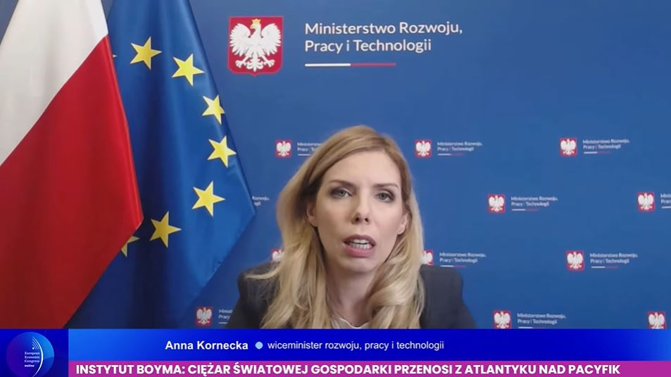 Anna Kornecka, wiceminister rozwoju, pracy i technologii. Fot. PTWP