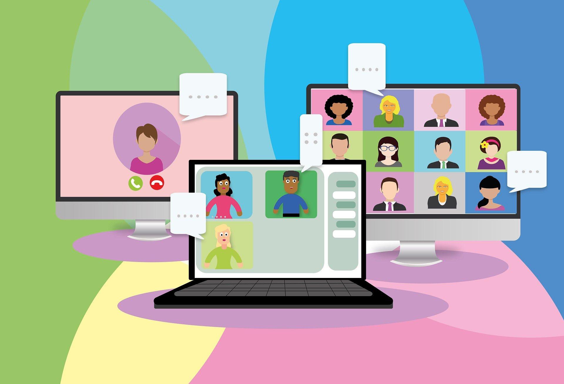 Dla 48 proc. respondentów włączanie kamery internetowej w trakcie spotkania jest oznaką szacunku do współuczestników (Fot. Pixabay)