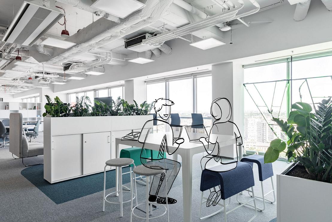 Inspiracją do stworzenia biura Tpay była koncepcja Activity Based Working (ABW), co oznacza przestrzeń dopasowaną do pracowników i charakteru ich działań (Fot. mat. pras.)