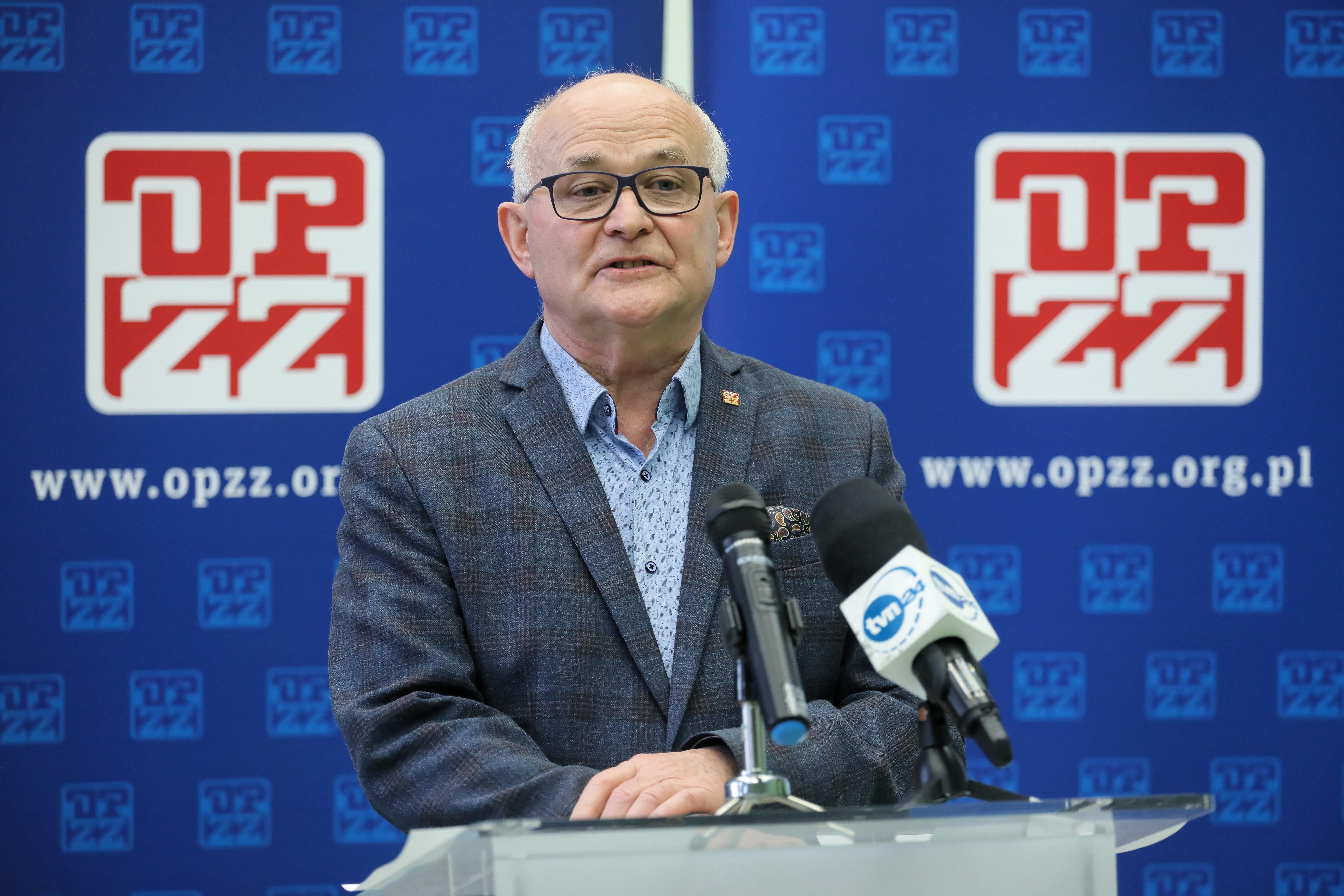 Andrzej Radzikowski, przewodniczący OPZZ (fot. PAP/Paweł Supernak)